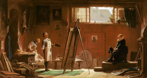 Carl Spitzweg  / The Portrait Painter