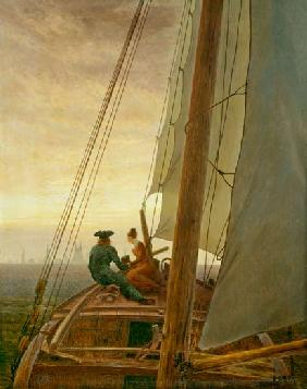 On Board a Sailing Ship