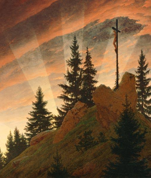 The cross in the mountains (part -- Teschner altar)