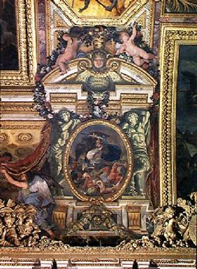 Defeat of the Turks in Hungary by the King's Troops in 1664, Ceiling Painting from the Galerie des G