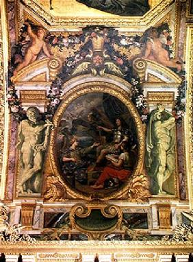 Financial Order Regained in 1662, Ceiling Painting from the Galerie des Glaces