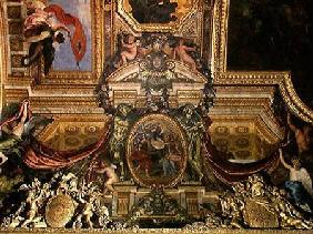 Holland helping against the Bishop of Munster, 1665, Ceiling Painting from the Galerie des Glaces