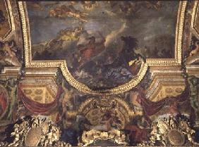 The King Taking Maestricht in Thirteen Days in 1673, Ceiling Painting from the Galerie des Glaces