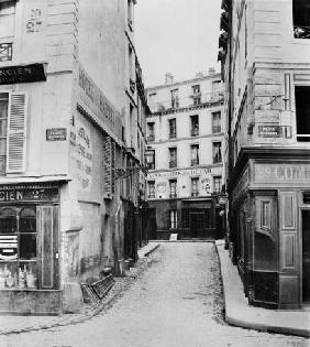 Rue Maitre Albert (from place Maubert) Paris, 1858-78 (b/w photo)