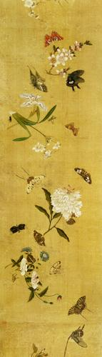 One Hundred Butterflies, Flowers and Insects, detail from a handscroll