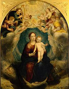 Altar Maria in the glory's middle: Maria with child and angels