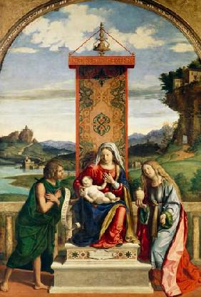 The Madonna with the hll. Johannes this . Täufer and Maria Magdalena.