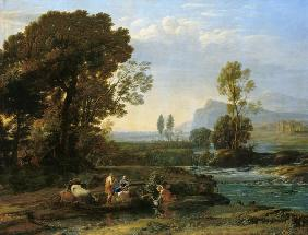 Landscape with the flight to Egypt