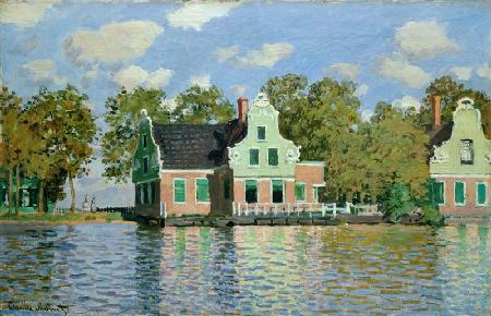Houses at the water (Zaandam) undated.