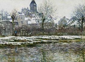 Monet, Claude : The Church at Vetheuil und...