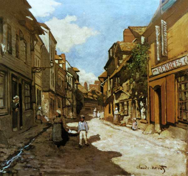 Dorfstrasse in the Normandy (Rue de of La Bavolle, Honfleur)