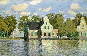 Monet, Claude : Houses at the water (Zaand...