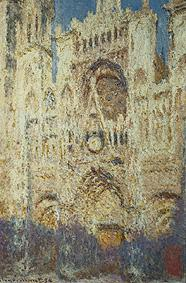 Monet, Claude : The church of Rouen in the...
