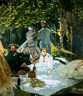 Le Déjeuner sur l ' sharp at Chailly (with the painters Courbet and Bazille)