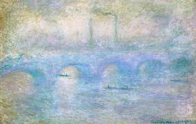 Monet, Claude : London, Waterloo bridge in...