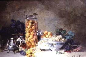 Still life of apricots and other fruit