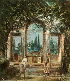 Ariadnepavillon of the villa Medici to Rome