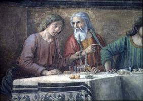 The Last Supper, detail of two disciples, from the Refectory of the monastery