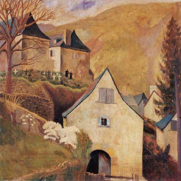 Mountain Church, Larrau (oil on canvas)