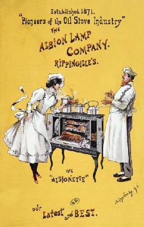 Advertisement for 'The Albionette' oven, manufactured by 'The Albion Lamp Company'