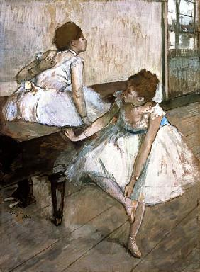Degas, Edgar : Two dancers resting