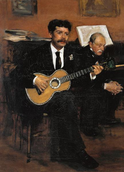 The guitarist Lorenzo Pagans and the father of the artist.