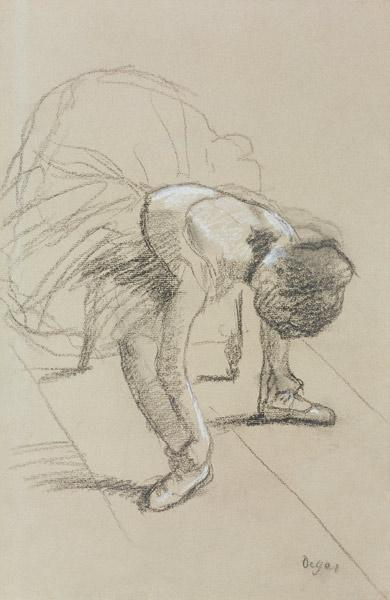 Seated Dancer Adjusting her Shoes