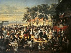 A Fete at Saint-Cloud c. 1860