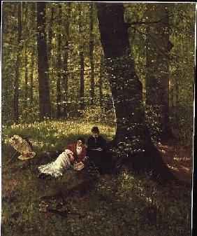 Weichberger, Eduard : Reading in the Woods