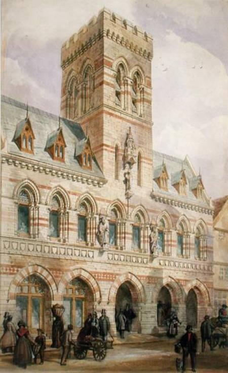 Congleton Town Hall - Edward William Godwin as art print or handgodwin town