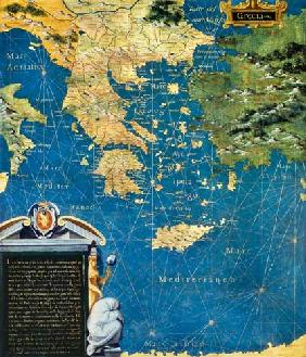 Map of Sixteenth Century Greece