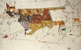 Schiele, Egon : The yellow town