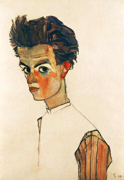 Self-Portrait with Striped Shirt