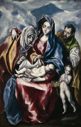 The Holy Family with Saint Anne and John the Baptist as Child
