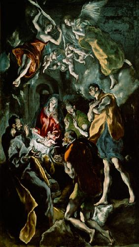 The Adoration of the Shepherds, from the Santo Domingo el Antiguo Altarpiece