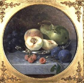 Still Life of Fruit on a Marble Ledge (pair of 63908)