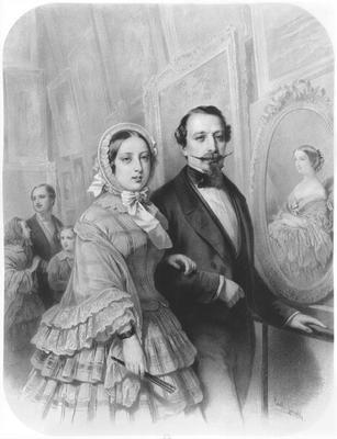 Se la Regina Vittoria portava la cuffia anche in alcune sue  rappresentazioni ufficiali 9ba1382cce05