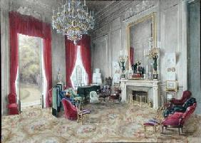 Drawing Room Interior at the Hotel Rainbeaux, Paris
