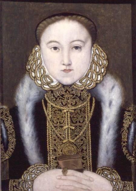 Portrait of Queen Elizabeth I - English School as art print or hand ...