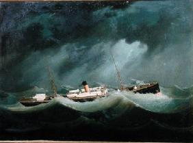 A 'Saville Line' vessel in Rough Weather