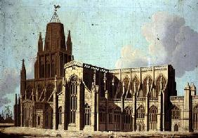 South-East View of St. Mary Redcliffe Church in Bristol