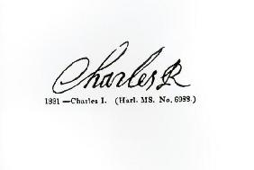 Signature of King Charles ...