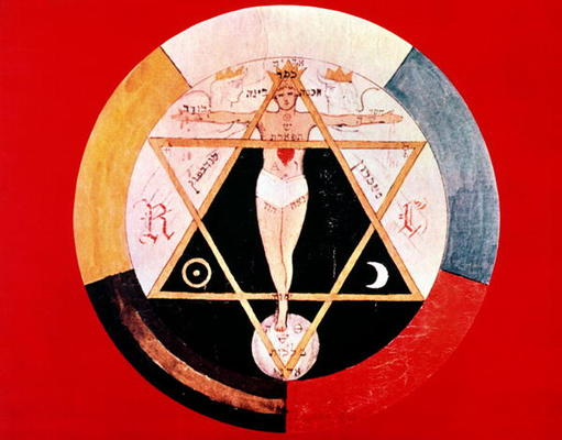 English School, (19th century) - Rosicrucian symbol of the Hermetic Order of the Golden Dawn