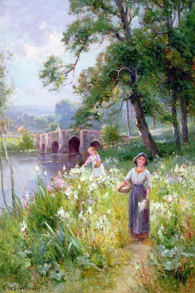 Picking Flowers by the River