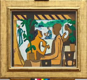 Kirchner, Ernst Ludwig : Brown Figures in a Caf�