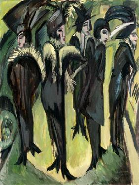 Kirchner, Ernst Ludwig : Five women on the Strasse
