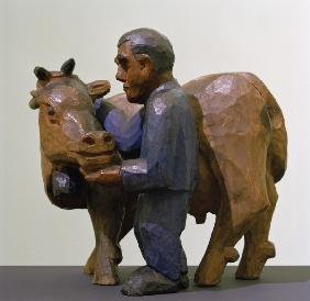 Peasant with cow