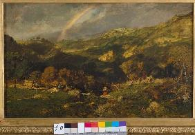 Rousseau, Etienne-Pierre Th�odore : Landscape after the thunde...