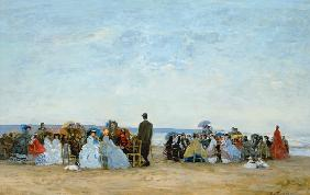 Beach Scene near Trouville
