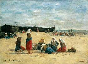 Berck, Fisherwomen on the Beach